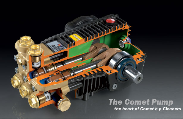 The Comet Pump - The heart of Comet h.p Cleaners