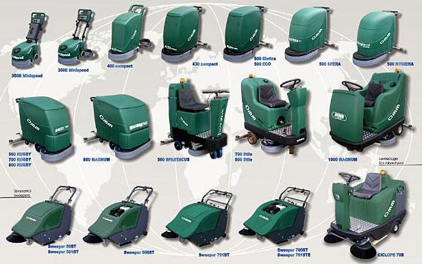 OMM Scrubber Dryers & Sweepers